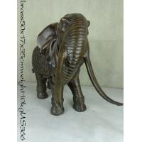 Buy cheap Modern Indian bronze elephant sculpture from wholesalers