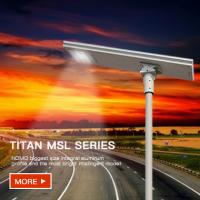 Buy cheap High power Municipal Highway Street Lighting Application System High Power Smart Integrated Solar Street Lights. from wholesalers