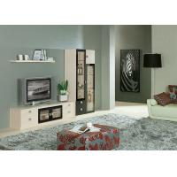 Melamine Living Room Tv Cabinet , Hotel Wall Display Cabinets Acid Resistant