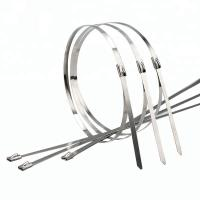 Buy cheap 4.6 X 400 Mm Self Locking Stainless Steel Cable Ties Alkali Acid Resistance from wholesalers