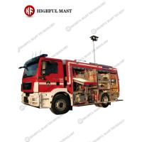 Buy cheap 3.5m small fire truck portable telescopic light pole from wholesalers