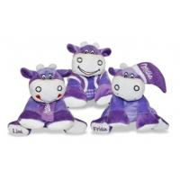China Purple Stuffed Milk Cow Animal Promotional Gifts Toys 8 Inch CE Standard on sale