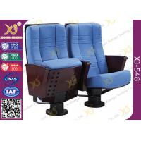 Buy cheap Comfortable Steel Legs Floor Mounted Church Seating Chairs , ISO9001 from wholesalers
