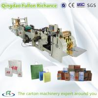 Buy cheap Roll Square Bottom Automatic Shopping Paper Bag Making Machine with handle making from wholesalers