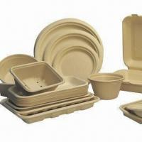 Buy cheap Biodegradable Disposable Food Containers, Unbleached Series Product, Available in Various Shapes from wholesalers