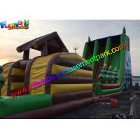 Buy cheap Hot Jungle Zip Line Commercial Inflatable Slide 18m x 6m x 9m Size from wholesalers
