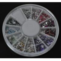 Buy cheap Bowknot-High Quality Colors Nail Art Rhinestones Glitters Gems Nail Art Decoration Wheel from wholesalers
