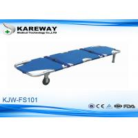 Buy cheap Blue Emergency Folding Stretcher With 2 Straps , Patient Transport Trolley For Construction Site from wholesalers