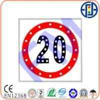 Buy cheap 600*600 mm 20 Solar Speed Limit Sign from wholesalers
