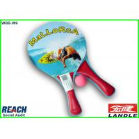 Buy cheap Full Printed Wooden Beach Rackets / Sports Paddle Tennis Rackets from wholesalers