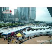 Buy cheap Large white aluminum and PVC 5X5m Gazebo Canopy Tent for Hongkong Dine & Wine Festival Event from wholesalers