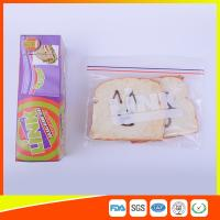 Buy cheap Food Grade LDPE Double Zipper Plastic Zip Lock Bags For Food , Eco Friendly Sandwich Bags from wholesalers