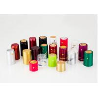 Buy cheap heat shrink capsule sealing bath shower cap red pvc heat shrink cap for wine bottle from wholesalers