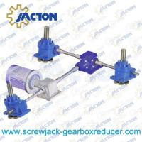 Three Worm Screw Lifting Systems Bevel Gearbox Drive