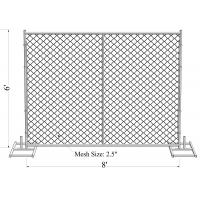 Buy cheap ASTM -A392-06 temporary chain link fence panels 6ft x 10ft construction fence Tubing 1⅗(40mm) cross brace mesh 1⅗40mm from wholesalers