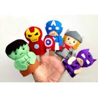 Buy cheap Fashion Cartoon Plush Toys The Avengers Felt Finger Puppets , For Promotion Gifts and Premium from wholesalers
