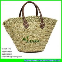 Buy cheap LUDA elegant lady hand bag shoulder corchet seagrass straw shopping beach bag from wholesalers