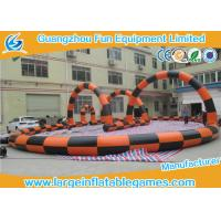 Buy cheap PVC Tarpaulin Inflatable Football Pitch Zorb Ball Track , Inflatable Football Game For Adults from wholesalers
