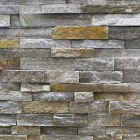 Buy cheap Black Granite Stacked Stone Tile Low Variations Resistance To Breakage from wholesalers