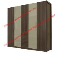 Buy cheap Bedroom wardrobe closet in MDF melamine with inner cloth racks and storage drawer from wholesalers