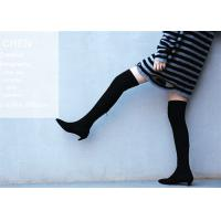 Buy cheap Top Grain Cowhide Upper Knee Length Boots / Kitten Heel Knee High Boots Fashion Design from wholesalers