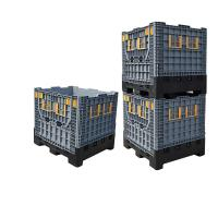 Buy cheap Sale plastic bulk containers folding solid bulk container collapsible pallet box from wholesalers
