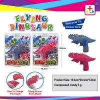 Buy cheap Flying dinosaur with toy candy , compress candy or jelly beans product