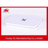 Buy cheap Airplane Printed Rectangle Mini Tin Box , White Background Empty Tin Cans With Hinged Lid from wholesalers