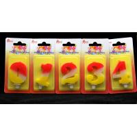 Buy cheap Contrast Color 100% Handmade Number Candle with Red and Yellow Coloring product