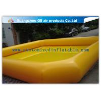 Buy cheap Indoor / Outdoor Yellow Above Ground Inflatable Pool For Backyard Water Game product