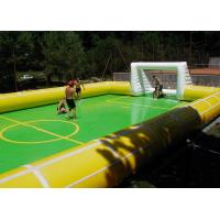 Buy cheap 0.55 mm PVC Tarpaulin Inflatable Soap Football Field /Soccer Field Sport Games from wholesalers