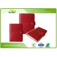 Buy cheap Debossing PU Cover Leather Loose Leaf Notebook With Card Pockets Offset Printing from wholesalers