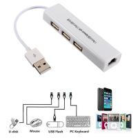 Buy cheap USB 2.0 LAN Ethernet Adapter with RJ45 3 USB Hub for TV Stick Streaming Device from wholesalers