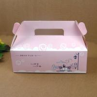 Buy cheap Folding Pink Paper Cake Packaging Box With Handle , Custom Design Cake Box from wholesalers