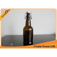 Buy cheap Barware 500ml Brown Glass Wine Bottles / Glass Beer Bottles With Swing Top Cap product