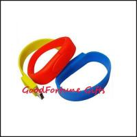 Buy cheap Silicon Wristband bracelet U-disk promotion gift printe logo from wholesalers
