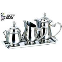 Buy cheap European Coffee Pot , Creamer And Sugar Jug Set Afternoon Tea Tableware For Buffet from wholesalers
