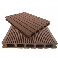 Buy cheap Anti-corrosion park coffee color decking wood plastic composite manufacturer from wholesalers