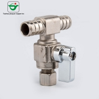 Buy cheap Medium Pressure 1/2''×1/2X1/2 Push Fit Tee Brass Angle Valve from wholesalers