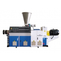 Buy cheap Twin Screw 1000mm Pvc Pipe Extrusion Machine from wholesalers