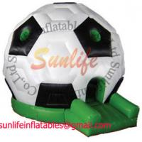 Buy cheap Huge Soccer Inflatable Bouncy Castle Hire , inflatable jumping houses from wholesalers