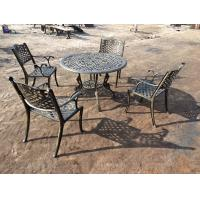 Buy cheap Green Outdoor View Cast Iron Garden Furniture Set Weather Resistant For Restaurant from wholesalers