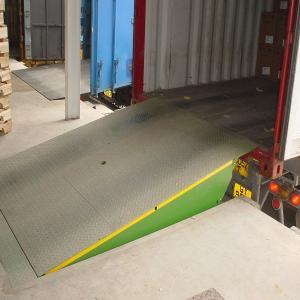 Buy cheap Anti skid steel Loading Dock Ramps / 8t Stationary Hydraulic Dock Leveler product