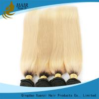 Buy cheap White 100% Human Hair Colored Virgin Hair ExtensionsYaki Straight  No Damage 7A Grade from wholesalers