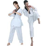 Buy cheap Custom WTF ribbed material taekwondo uniform  black belt taekwondo GI WTF Taekwondo Dobok/Suit/ from wholesalers