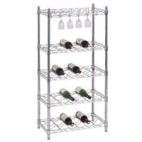Buy cheap Wine Rack/Promotional Metal Free Standing Food Display Rack Blue For Shop / Store from wholesalers