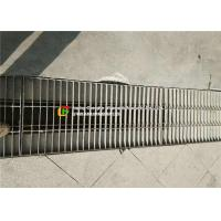 Buy cheap Low Carbon Galvanised Trench Grate , Silver Channel Drain Grate Cover product