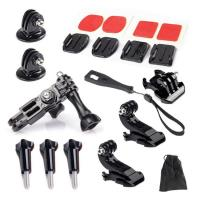 Buy cheap GoPro Accessories Set 3 Way Adjust Arm Tripod Mount Adapter Quick Base For SJCAM SJ4000 SJ6000 GoPro 4 3 Xiaomi Yi 4K from wholesalers