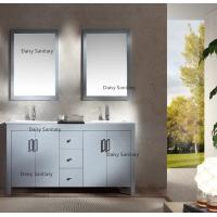 Buy cheap Matt Gloss Painting American Bathroom Vanity 2 Layers Natural Marble Stone Countertop from wholesalers