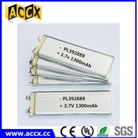 Buy cheap PL392889 3.7V 1300mAh lithium polymer battery from wholesalers